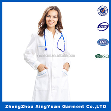 new design Custom ICU Unisex Doctor OEM White Coat for Doctors hot sale Lab Coat