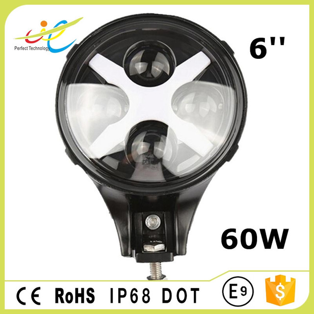 Angel eyes 60W 6 inch car led head light with high-low beam for wrangler