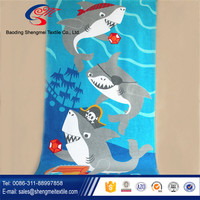 Reactive Printed Beach Towel for Baby