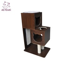 Custom cheap reusable customized size MDF wooden cat tree