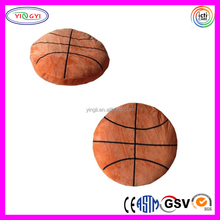 D394 Orange Printed Stuffed Basketball Pillow Toy Plush Basketball