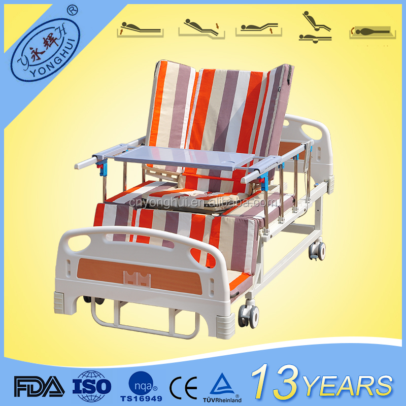 CE&FDA home care 5 function hospital reclining bed electric chair bed