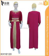 fasion design short sleeve dubai abaya islamic clothing with embroidery