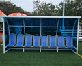 With PC Solar Panel Soccer Bench Seat Anti UV Plastic Bench For Sale
