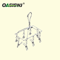 stainless steel cloth rack/Clothespins/Peg/Clothes hanger for hanging drying With 8 clips