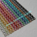 Wholesale Assorted Colors 9mm & 12mm Aluminum Double Hook Link Chain