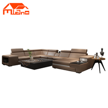 2018 MILANO 100% top grain leather sofa set Modern Style Home Decoration Use Fabric Corner Shape Couch Living Room Sofa R826