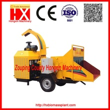 Hot selling Diesel engine Mobile wood chipper HXBC1000 for making organic soil