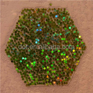 Hgh quality decorate green glitter powder for sale