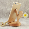 desktop solid wood phone holders cute Kung Fu Kid phone base wood