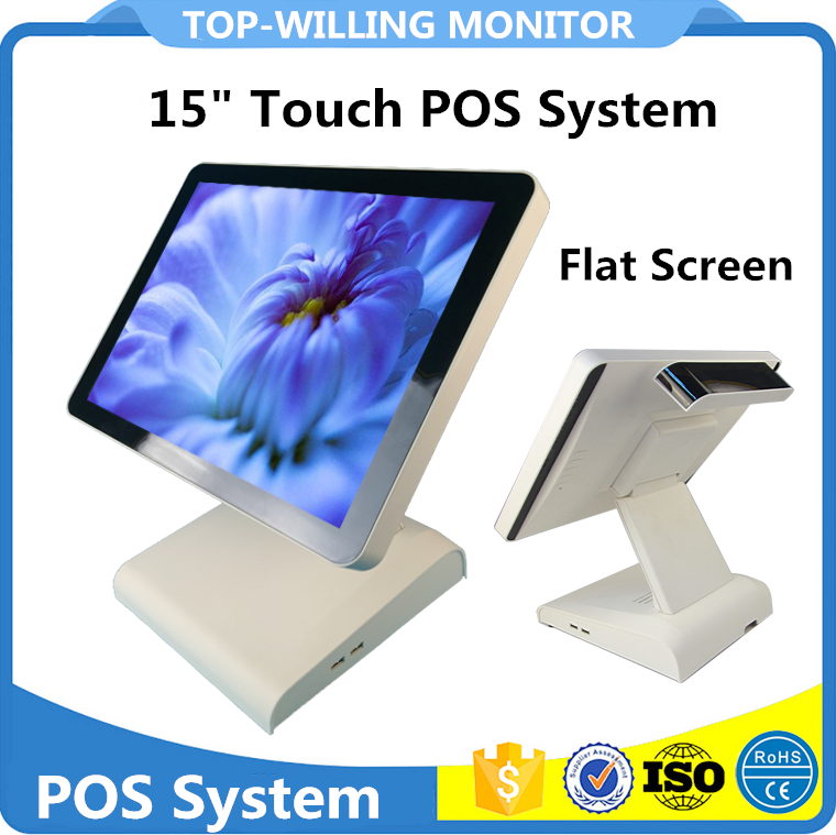 Cheap 15 inch POS Terminal with Customer Display for Supermarket