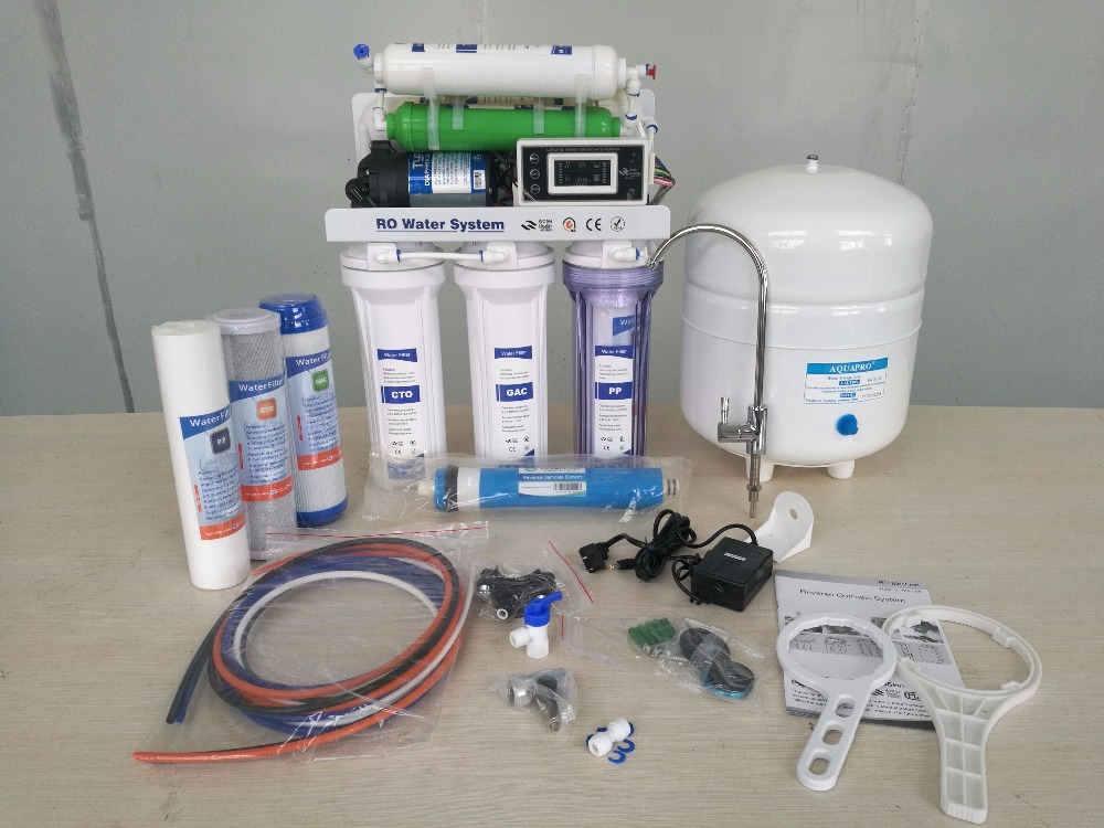 Direct drinking reverse osimosis 7 stage RO system with pc box alkaline water filter machine price