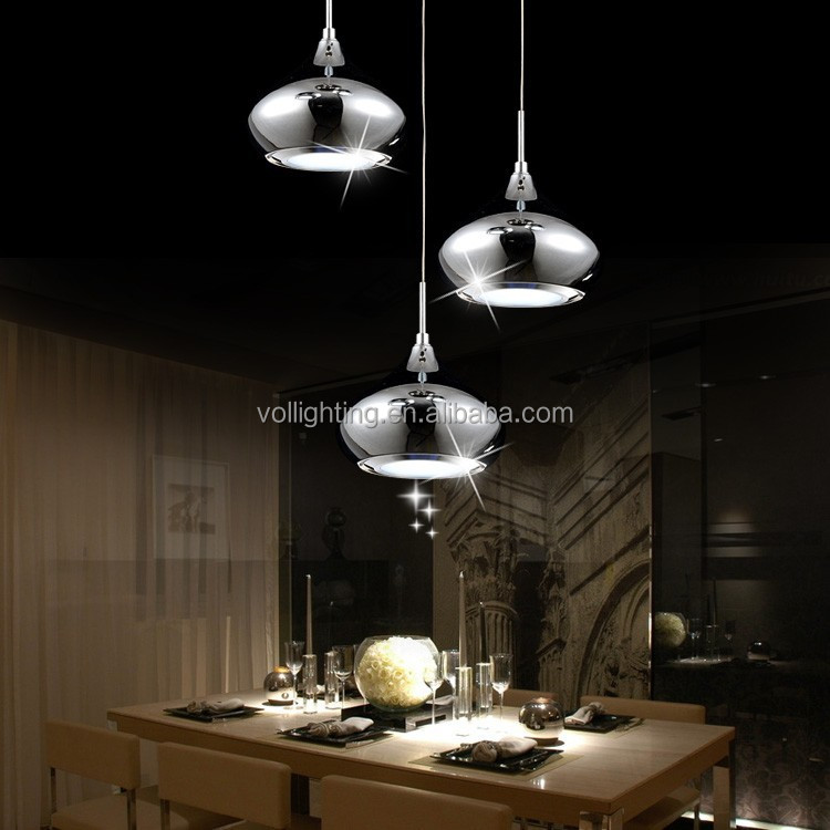 Modern silver color aluminum LED Pendant Lamp home lighting for dining room VOL