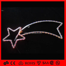 warm white led rope light christmas decoration motif street light rope pole street light with meteor