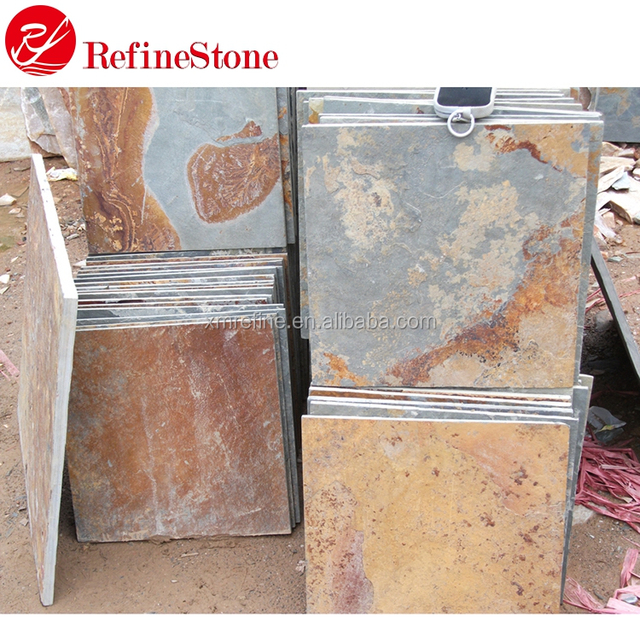 Cheap Chinese Natural Stone Rusty Slate Tile For Flooring and wall