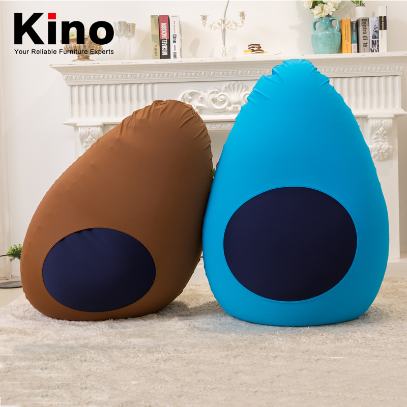 comfortable bean bag chairs furniture, lazy boy beanbag sofa filling with bean ball, washable elastic fabric cover