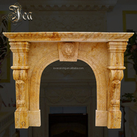 Better white marble simple design cheap fireplace indoor freestanding fireplace mantel