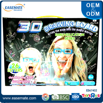 Light Up LED 3D Writing Pad with 3D Activity Kit Bundle Pack 3D drawing board