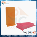 Customized Stock Item Rice Paper Block Bottom Bag for Food Packaging