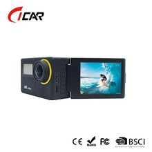 4K video resolution waterproof wifi control action camera with dual-screen