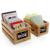 multipurpose wooden storage crates erasable chalkboard signs