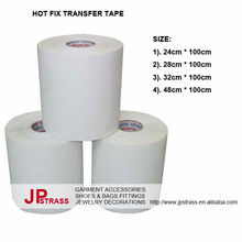 hot fix heat iron on transfer tape rolls coat acrylic on PET film