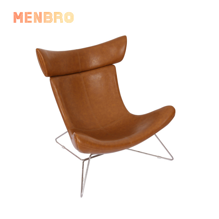 Modern Nordic leather Fiberglass home indoor furniture chairs lounge imola chair for living room