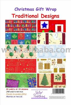 Christmas Traditional GIFT WRAP paper