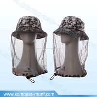 Head Face Protect Net Jungle Camouflage Anti Mosquito Bee Bug Mesh Mask Cap