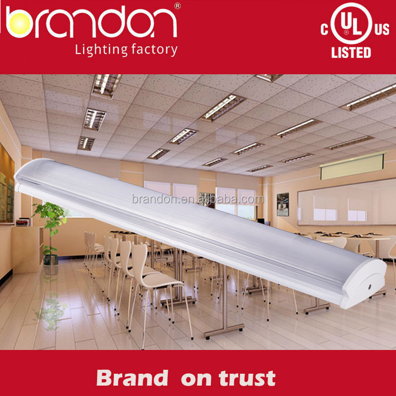 T5 T8 LED tube batten lighting fixture CE UL CUL energy saving ceiling mounted flourescent light fixture