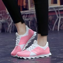 top grade elastic fabric running sports shoes