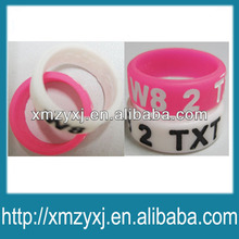 cheap custom silicone finger ring with debossed logo