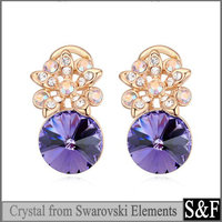 Crystal from Swarovski ladies earrings designs pictures