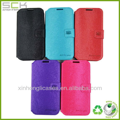 Hot selling flip case for samsung galaxy s4 ,flip case cover factory price