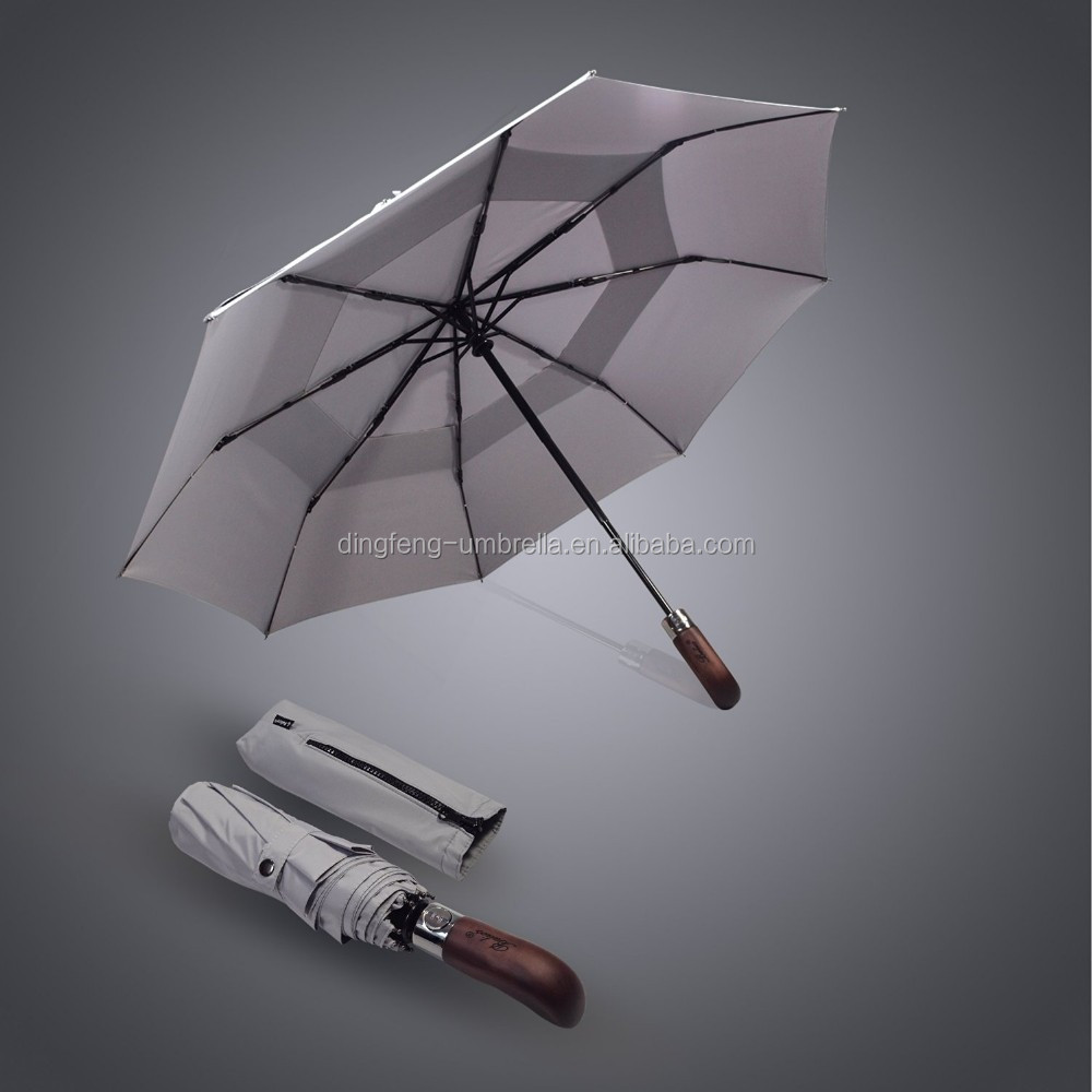 Big size 2 folding umbrella/promotional rain auto open foldable umbrella
