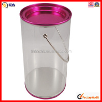FDA material pvc tin box with handle