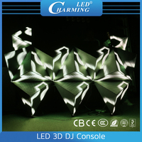 New design led in special shape magic indoor cablnet video display/P6.15 12pieces console moules DJ display