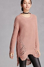 OEM Longline Distressed Sweater