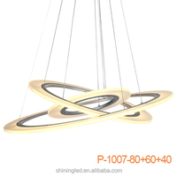 Three rings suspension lighting acrylic contemporary pendant lamp