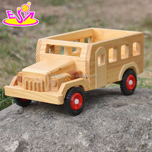 2017 New products kids small toys solid wooden toy cars and trucks W04A332