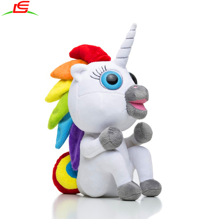 hot selling soft stuffed plush toy mascot rainbow unicorn