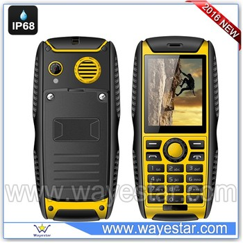 Low cost 2.2 inch Spreadtrum SC6531DA Rugged GSM Mobiie Phone Dual SIM IP68 Bluetooth Camera