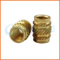Factory price self tapping knurled brass insert nut