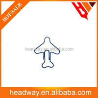 2015 new originality airplane shape Promotion child paper clip for school
