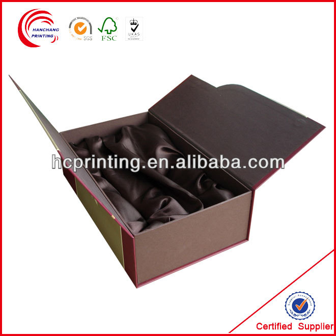 wine stopper box with Gold Stamping for wine wholesale
