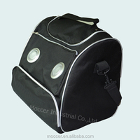 Promotion gift 600d polyester disposable deep freezer lunch cooler bag with speakers