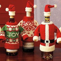 Fashion Christmas Wine Bottle Dress And
