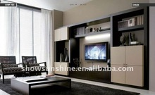 hot sale living room tv showcase designs and tv cabinet with showcase