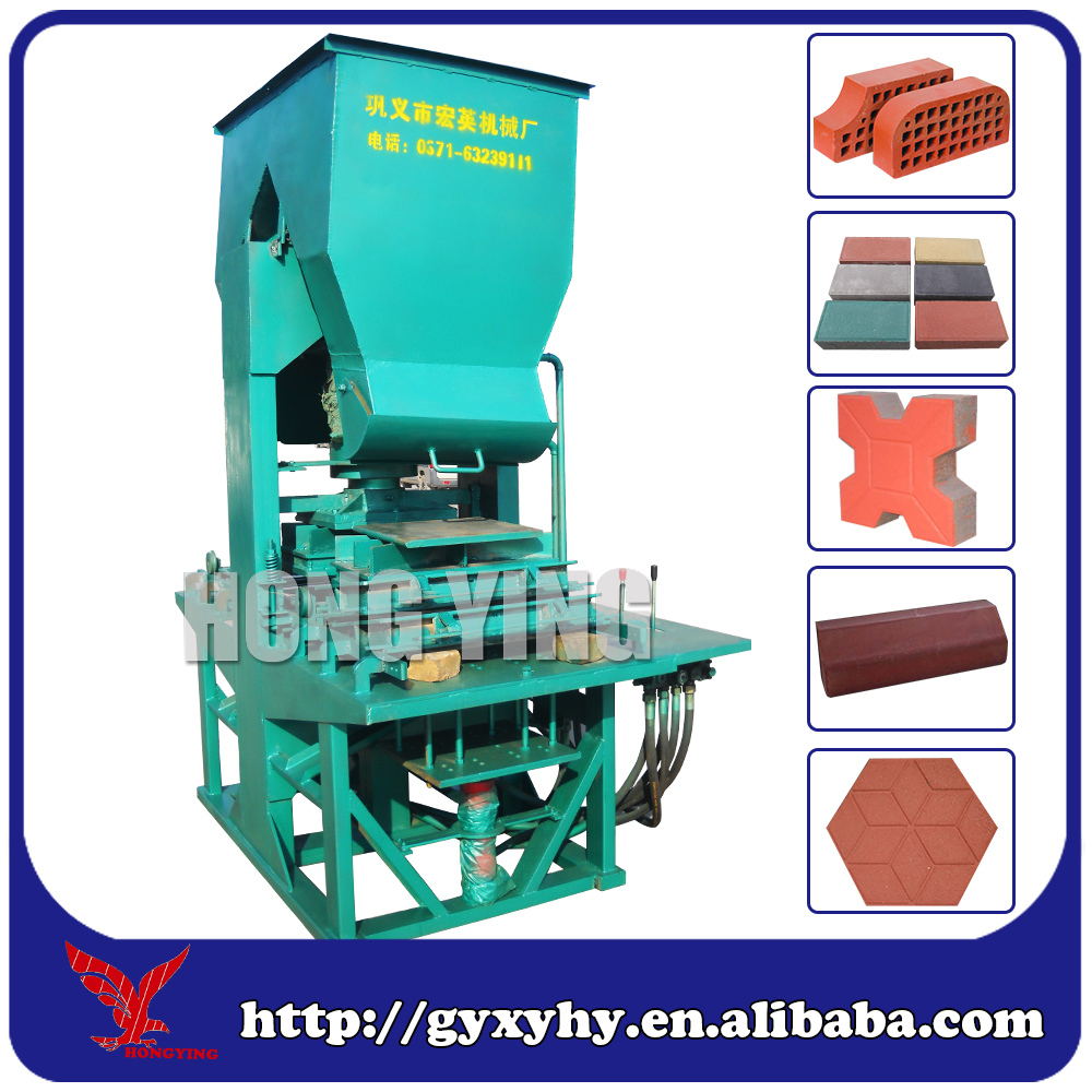 HY150K vibration automatic kerb industrial brick making paving block making machine