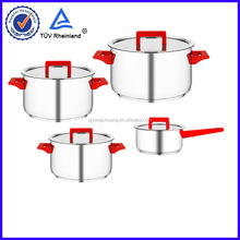 7pc cookware set with silicone handle with high-end quality
